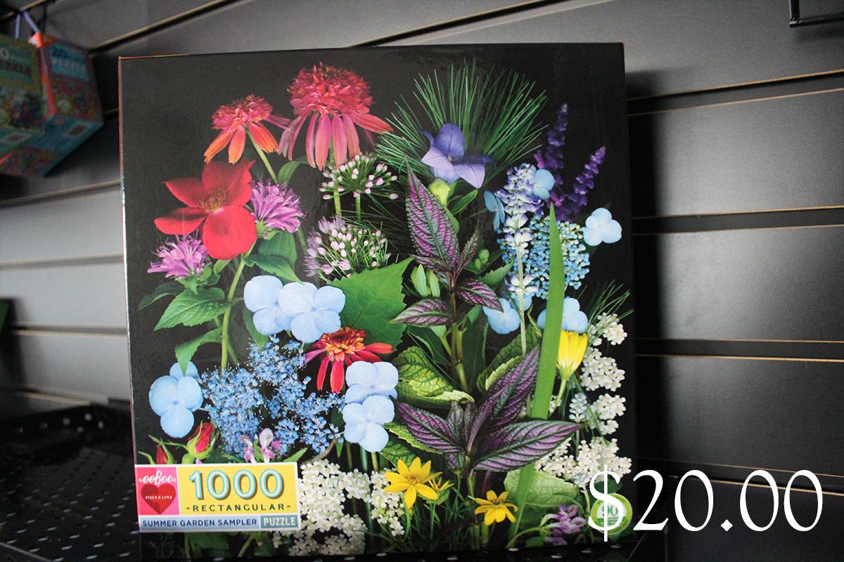 eeBoo 1000 Rectangular Summer Garden Sampler Puzzle