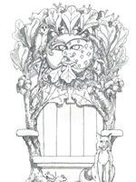 Tulsa Botanic Garden - Children's Discovery Garden coloring sheet - Blackjack Oak Throne